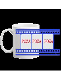 Cana - cu trei poze in diapozitiv albastru