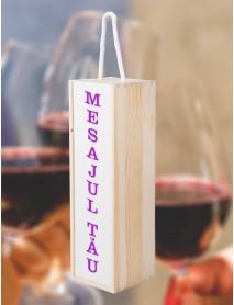 Cutie din lemn pentru sticle de vin