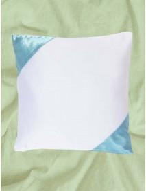 Perna patrata alba cu colturi bleo personalizata