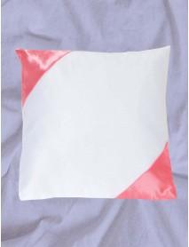 Perna patrata a;lba cu colturi roz personalizata