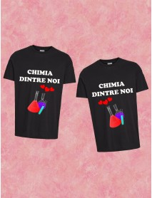 Set 2 tricouri  personalizate unisex - Chimia dintre noi