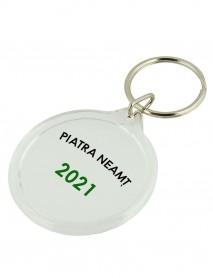 Breloc personalizat din plastic rotund
