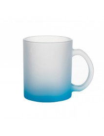 Cană sticlă mată albastră
