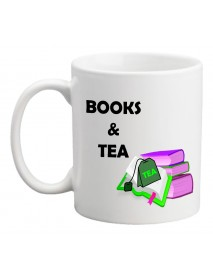 Cană - Book and tea