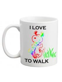 Cană - I love to walk