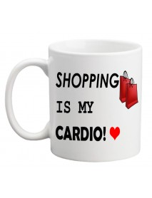 Cană - Shopping is my cardio