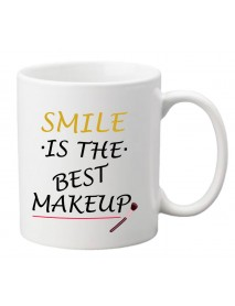 Cană - Smile is the best makeup