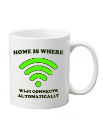 cană - Home is where wi-fi connects
