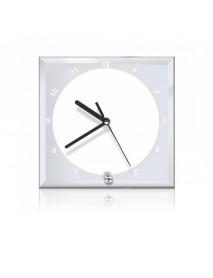 Ceas personalizat din sticlă pătrat 20cm