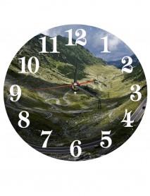 Ceas personalizat din sticla rotund 20cm