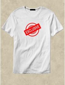 Tricou personalizat alb Exclusive