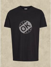 Tricou personalizat negru - Ok