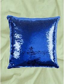 Pernă cu paiete reversibile personalizată albastră