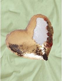 Perna cu paiete reversibile personalizata inima aurie