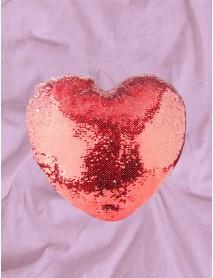 Perna cu paiete reversibile personalizata inima rosie