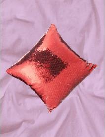 Pernă cu paiete reversibile personalizată rosie