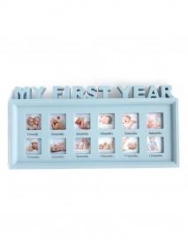Ramă foto - My first year - 12 poze culoare albastră