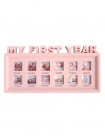 Ramă foto - My first year - 12 poze culoare roz