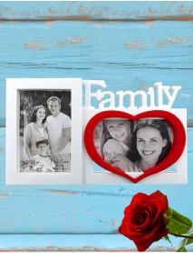 Ramă foto personalizată colaj 2 poze - Family