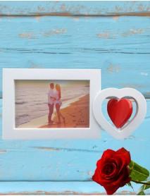 Ramă foto personalizată - inimioară