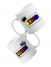 Set 2 căni Queen și King