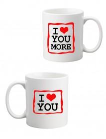Set 2 căni I love you