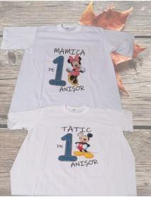 Set trei tricouri personalizate pentru un an