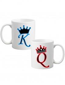 Set 2 căni King și Queen