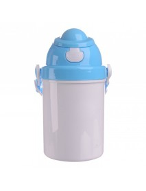Bidon plastic pentru copii albastru 400 ml