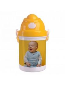 Bidon plastic pentru copii galben 400ml