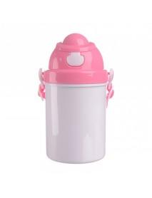 Bidon plastic  copii roz 400 ml