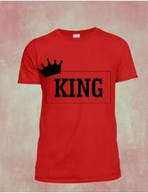 Tricou personalizat rosu - King