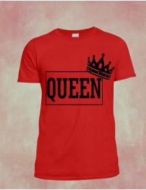 Tricou personalizat rosu - Queen
