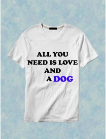 Tricou personalizat alb - All you need is love