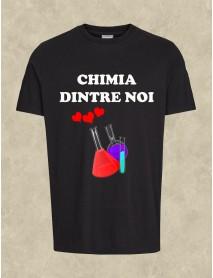 Tricou personalizat negru - Chimia dintre noi