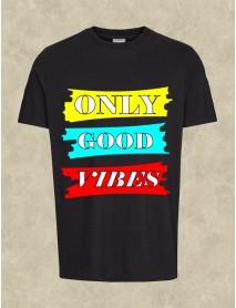 Tricou personalizat negru - Only good vibes